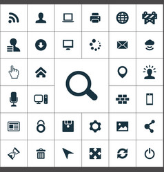 webdesign simple icons universal set for web vector image