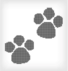 White background with black ink footprint vector