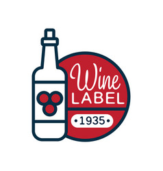 wine label 1935 natural top quality product vector image
