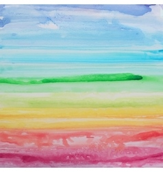 Abstract watercolor rainbow gradient background vector
