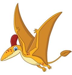 Cartoon Happy pterodactyl cartoon vector image vector image