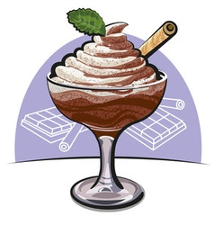 chocolate mousse vector image vector image