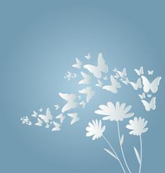 flying butterflies and flow vector image vector image