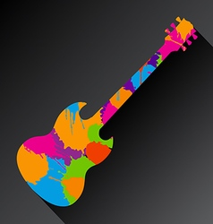 Guitar splat vector