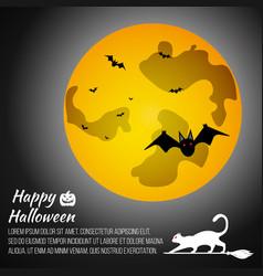 halloween moon on grey background vector image