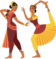Indian dancers vector image vector image