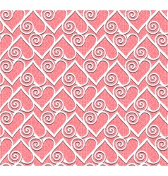 lace heart seamless pattern vector image vector image