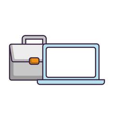 laptop computer icon vector image