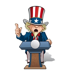 Uncle Sam Presidential Podium Grave vector image vector image