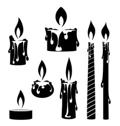 burning candle vector image vector image