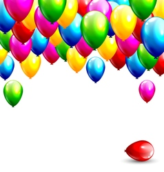 Multicolored inflatable balloons isolated on white vector image vector image