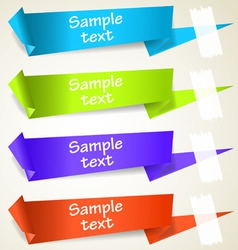 set of abstract origami tag labels vector image vector image
