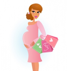 shopping pregnant girl vector image vector image