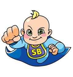 super baby boy flying vector image vector image