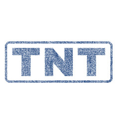 tnt textile stamp vector image vector image