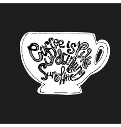 with hand-drawn lettering on the vector image