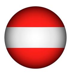 Austria flag button vector image