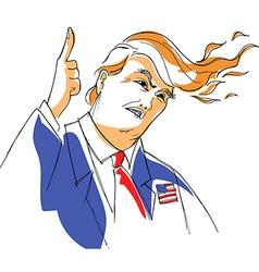Donald Trump caricature vector image