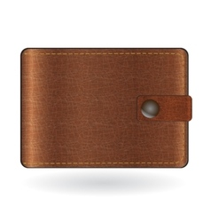 Brown leather wallet vector image vector image