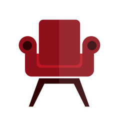 comfortable soft and stylish red armchair vector image vector image