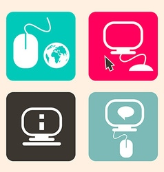 Computer - Technology Icons vector image vector image