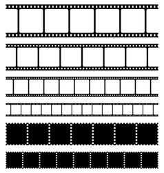 Film strips stamps and photo negatives set vector image
