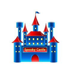 Horror castle isolated on white vector image vector image