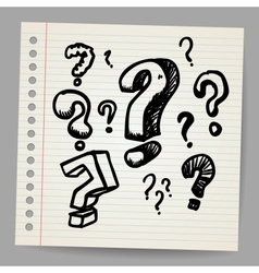 Scribble question marks vector image vector image