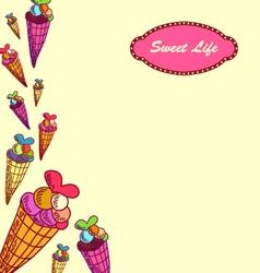 Sweet life-3 vector image vector image