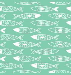 tuna seamless pattern decorative white fish vector image