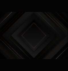 3d elegant abstract black square layered vector image