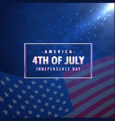 4th july american independence day background vector image