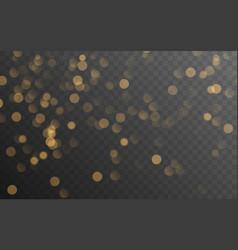 Abstract golden shining bokeh vector
