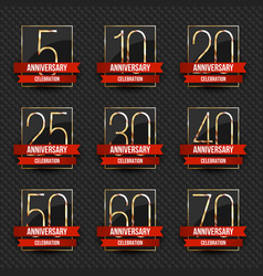 anniversary logo collection vector image