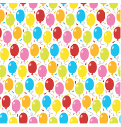 balloons and confetti seamless pattern background vector image