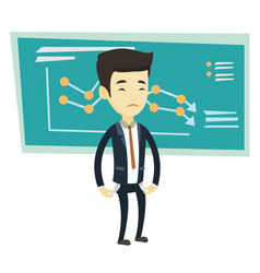 bancrupt business man vector image