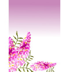 beautiful hand painted floral background in vector image
