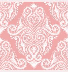 Beautiful pink flourish seamless pattern vector