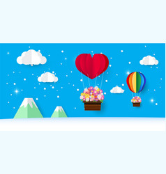 beautiful rainbow valentine day vector image