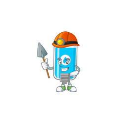 Cartoon design wall hand sanitizer work as a miner vector