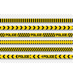 collection police stripes and tapes with shadow vector image