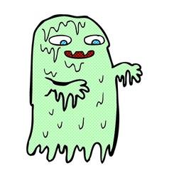 Comic cartoon gross slime ghost vector