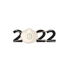 coronavirus pandemic new year 2022 design vector image