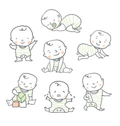 Cute baby for baby shower vector