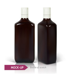 dark realistic square scotch bottles vector image