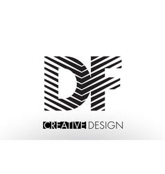 df d f lines letter design with creative elegant vector image