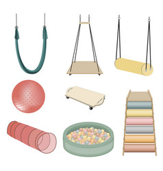 Equipment for kids playing ergotherapy vector
