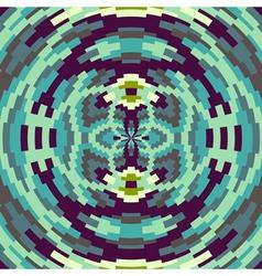 Ethnic geometric ornament pattern background vector image