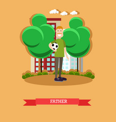 Father concept in flat style vector