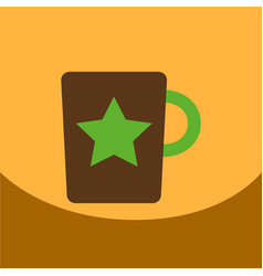 Flat icon design collection cup with star vector